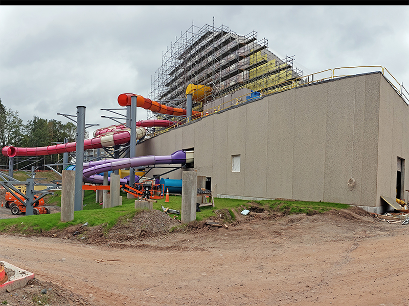 kartrite indoor waterpark under construction