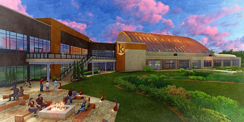 Kartrite hotel and indoor waterpark rendering adg