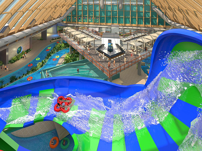 Kartrite hotel and indoor waterpark rendering