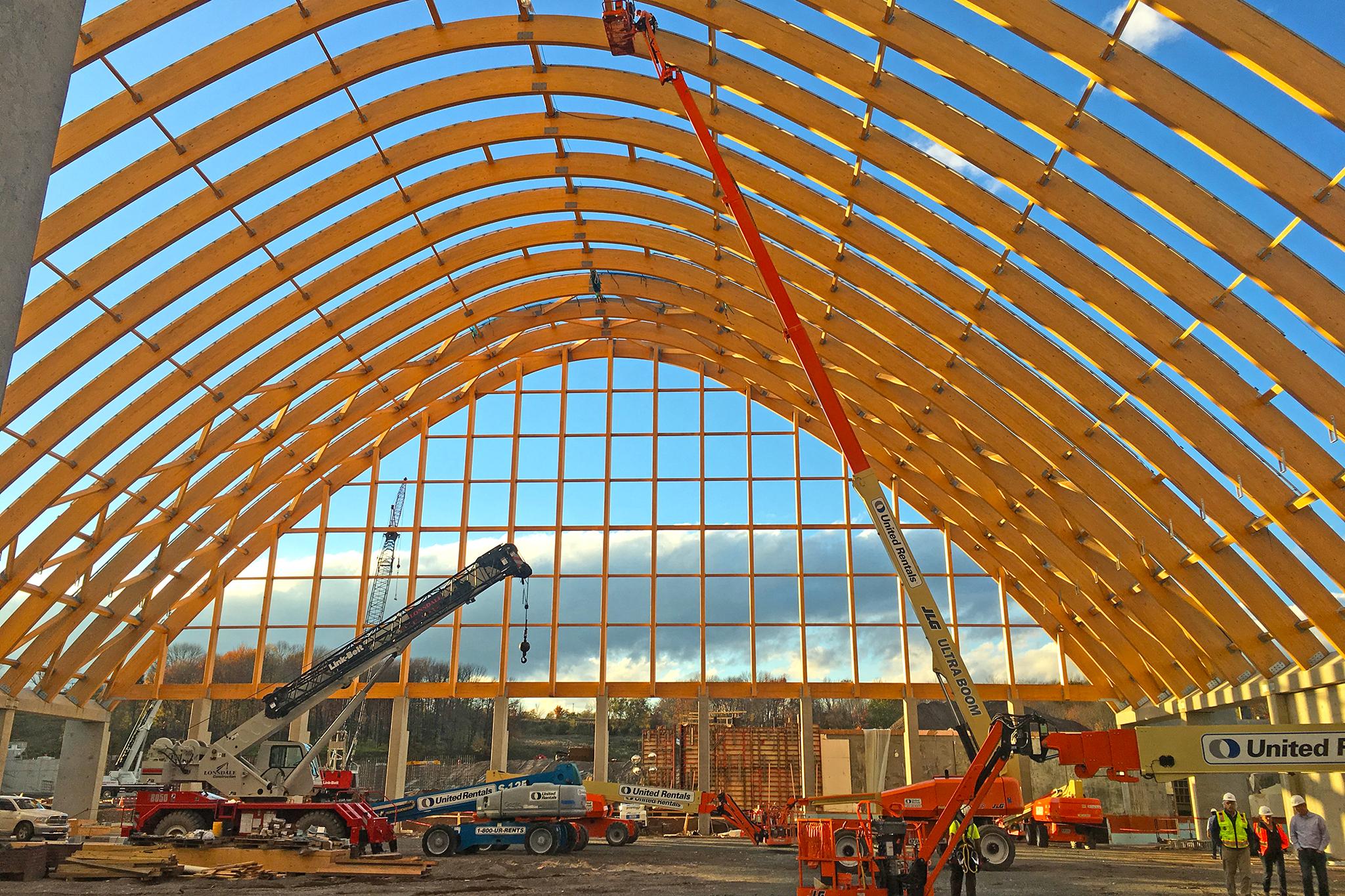 Kartrite indoor waterpark construction