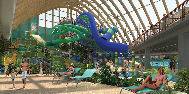rendering of kartrite indoor waterpark
