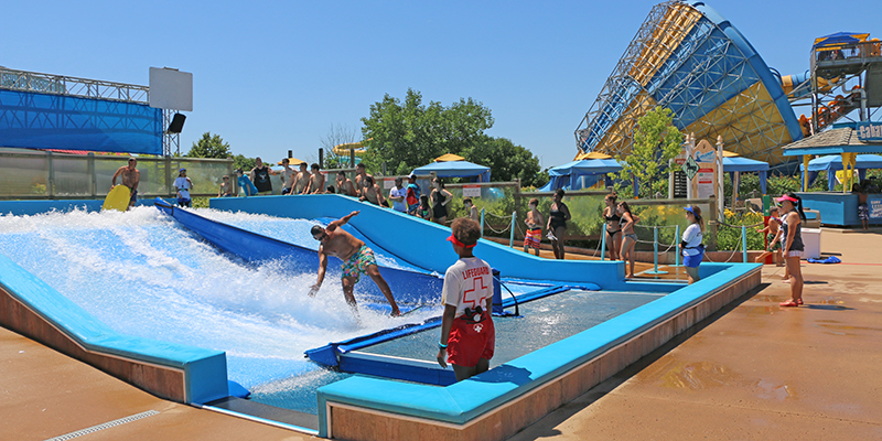 FlowRider at a water park venue