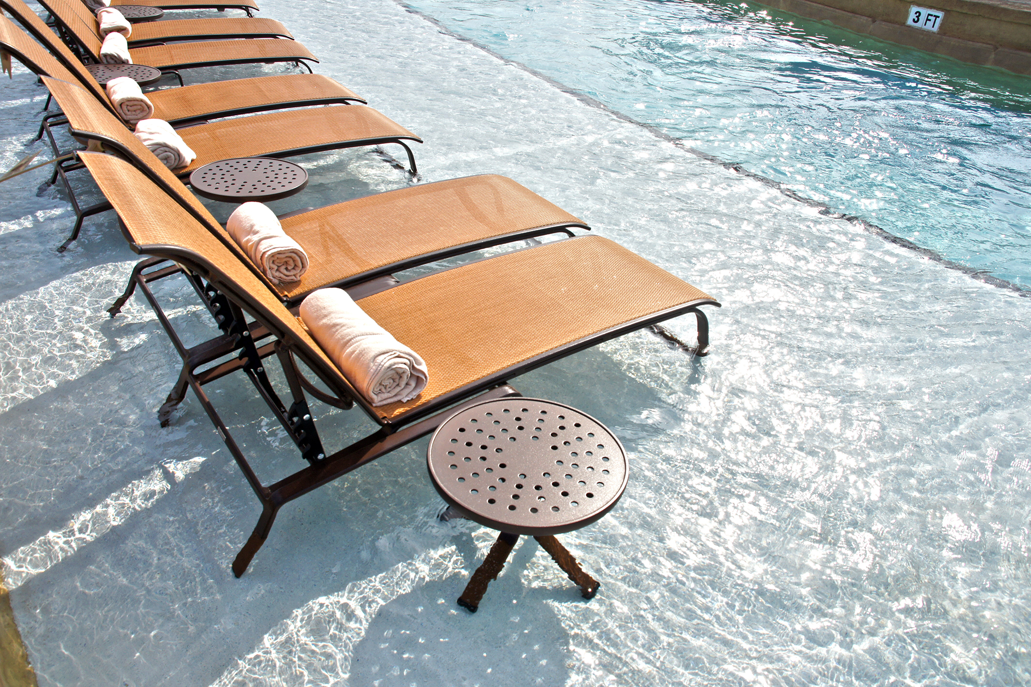 Lounge Chairs in pool