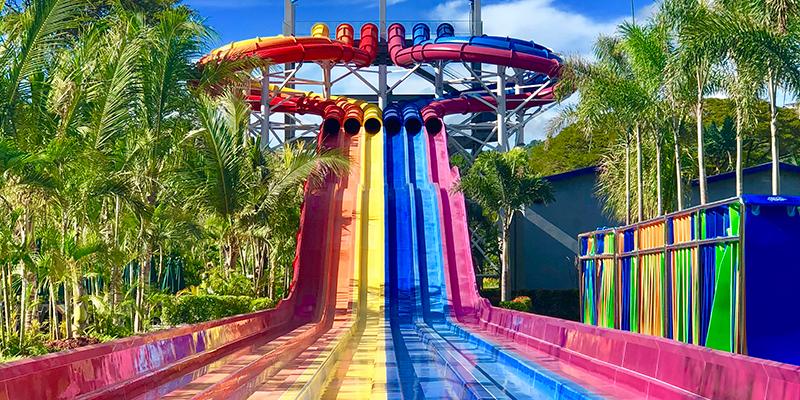 slide complex at Aqua Planet