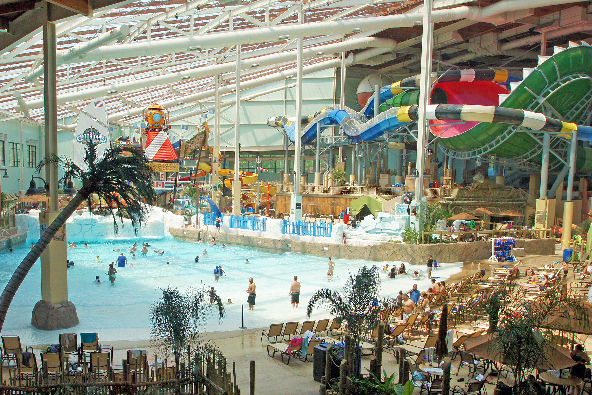 Waterpark overview at camelback lodge