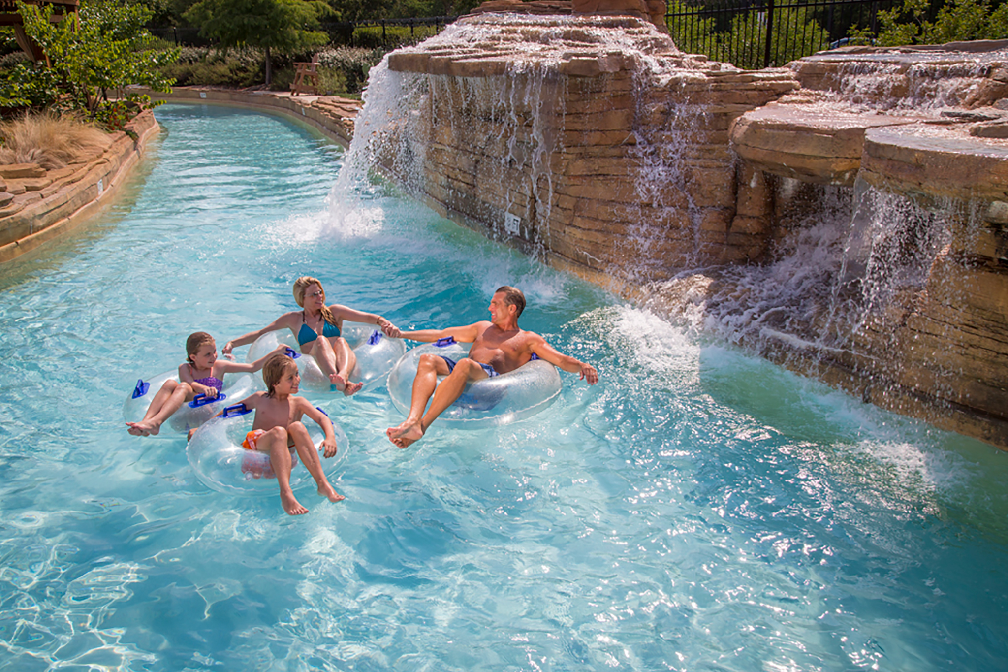 Resort water falls and lazy river at gaylord texas