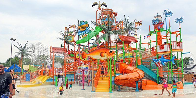 multi level play structure at six flags america