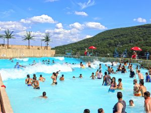 outdoor mountain water park