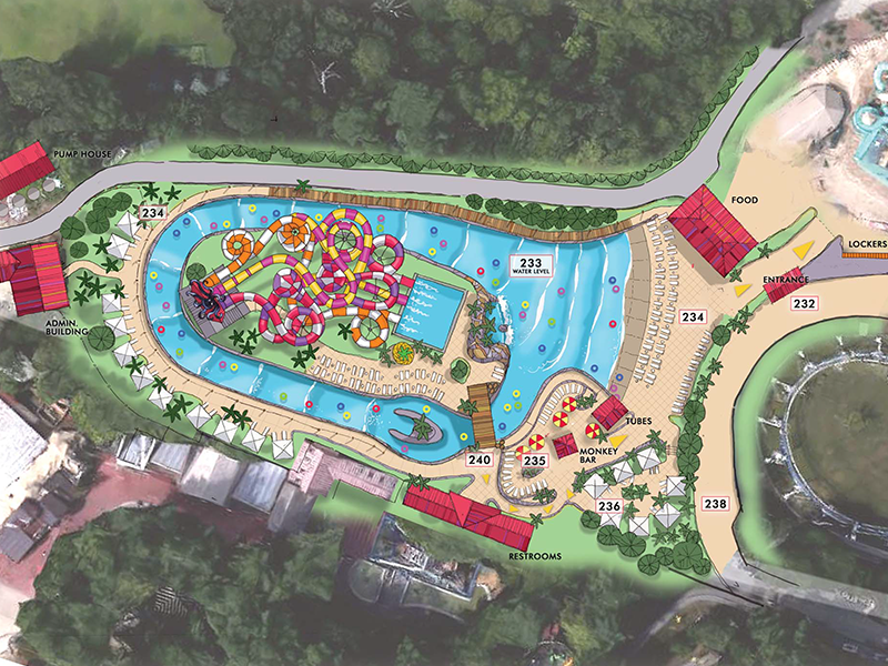 drawing of water park concept