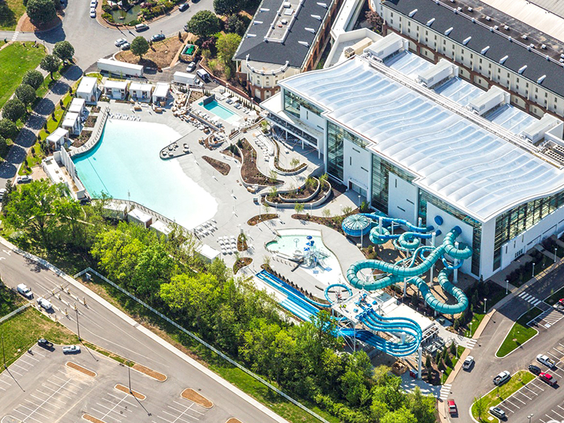 adg gaylord opryland indoor outdoor water park