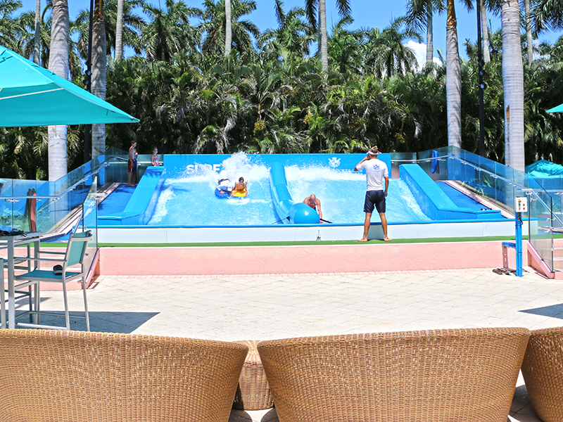 flowrider in resort setting