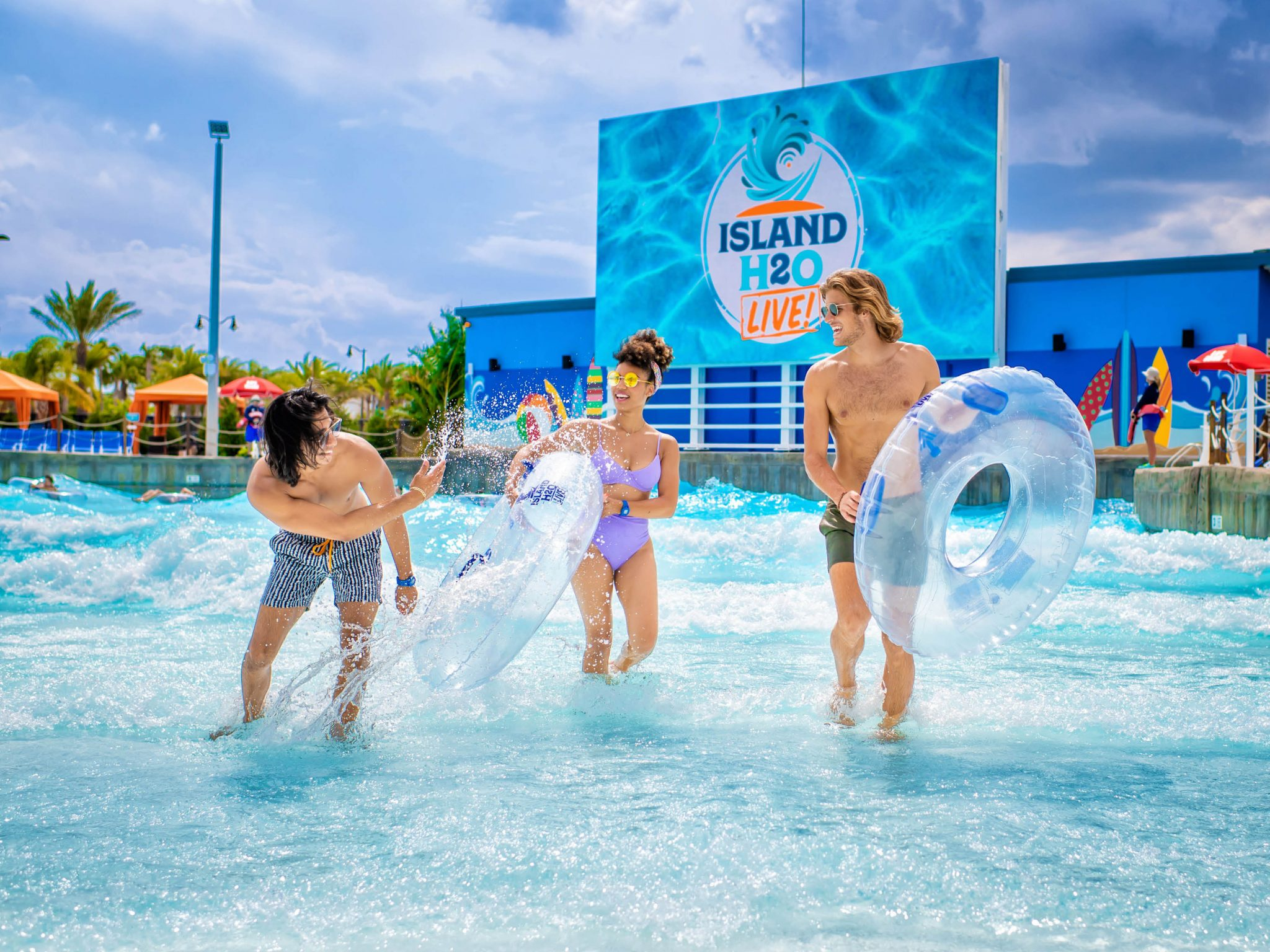 wave pool at island h20 live