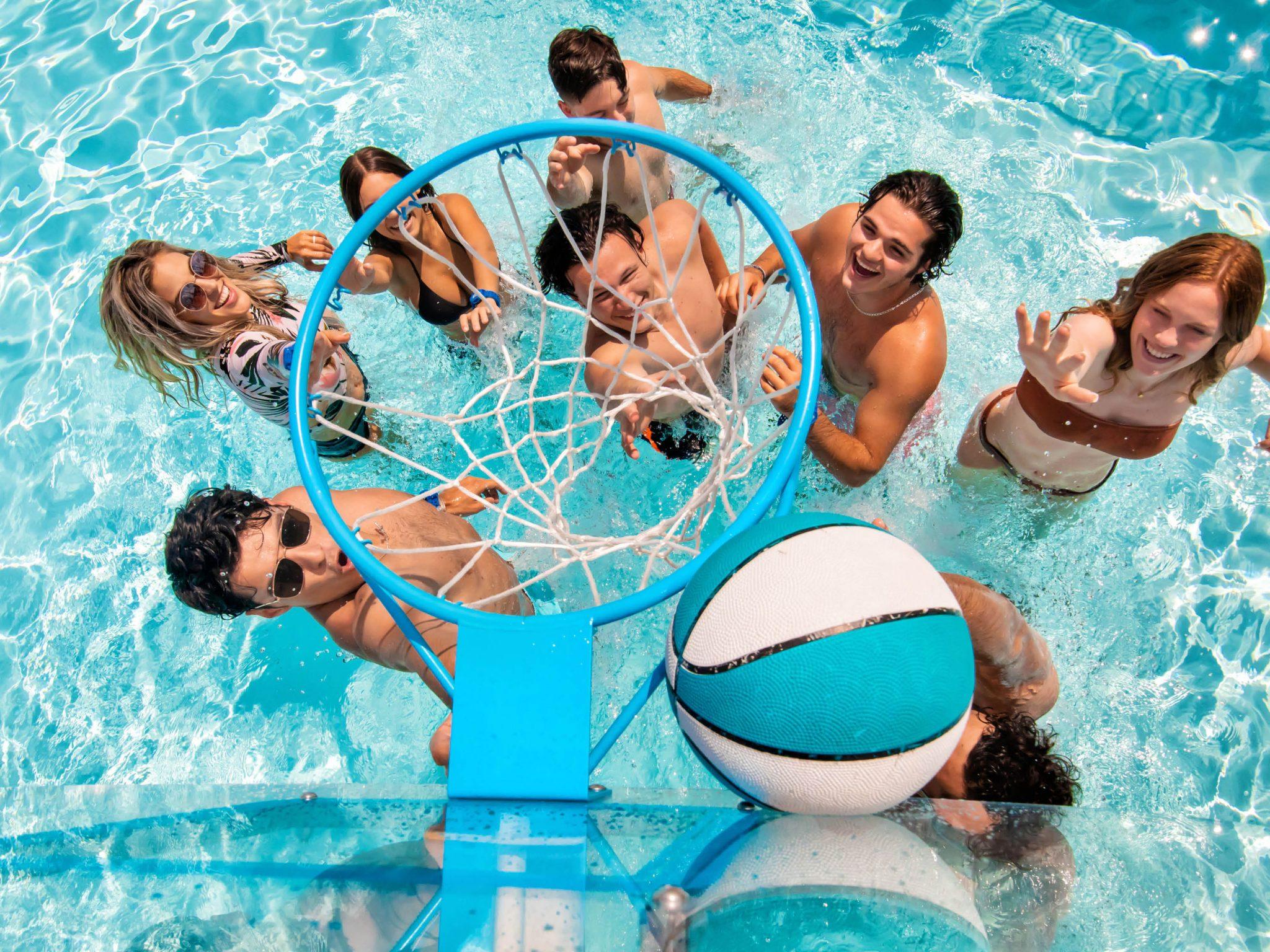 pool basketball island h20 live
