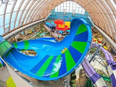 overview of the kartrite resort indoor water park