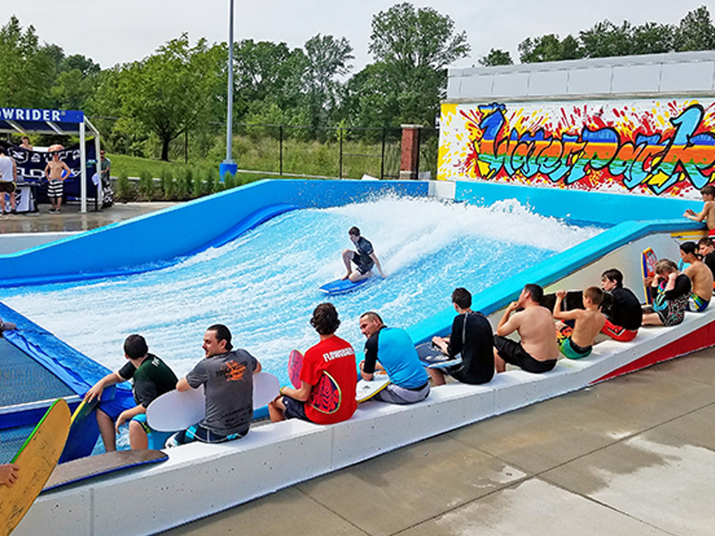 flowrider at municipal water park