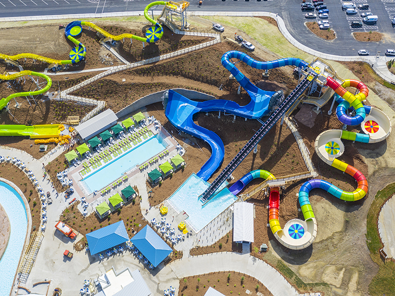 Soaky Mountain water slides