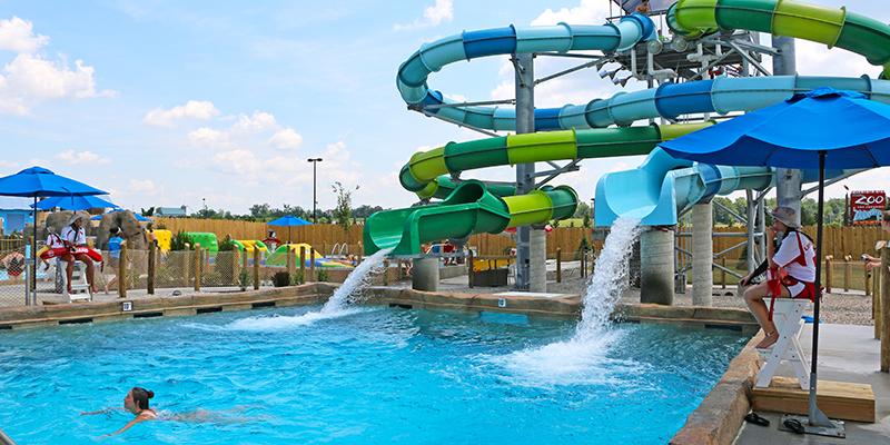 Slides at Columbus Zoo Waterpark