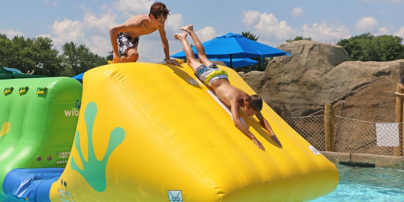 Boys playing at Adventure Lagoon at Columbus Zoo Waterpark
