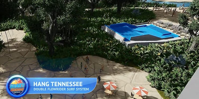 FlowRider Rendering at Soaky Mountain Waterpark