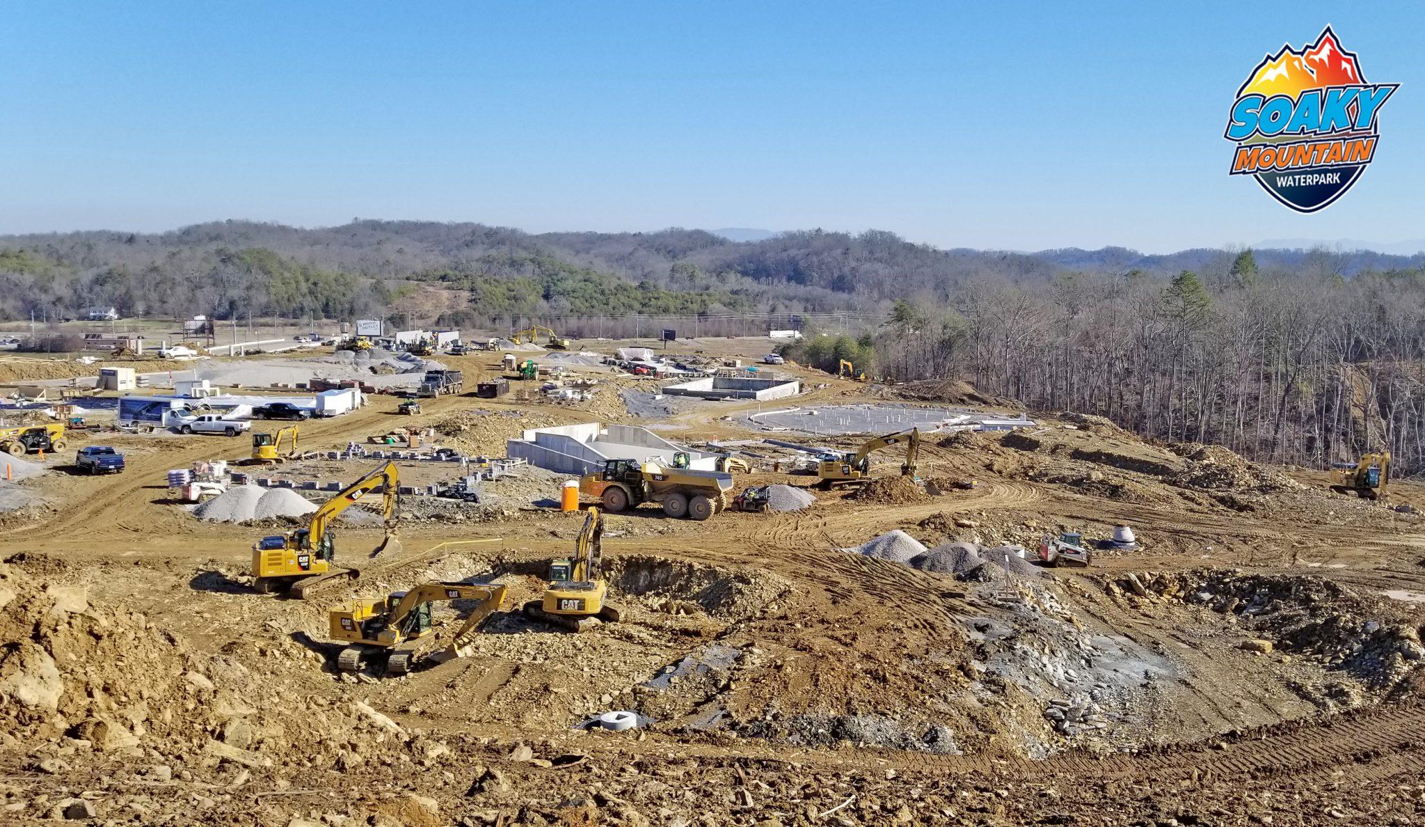 water park construction at soaky mountain
