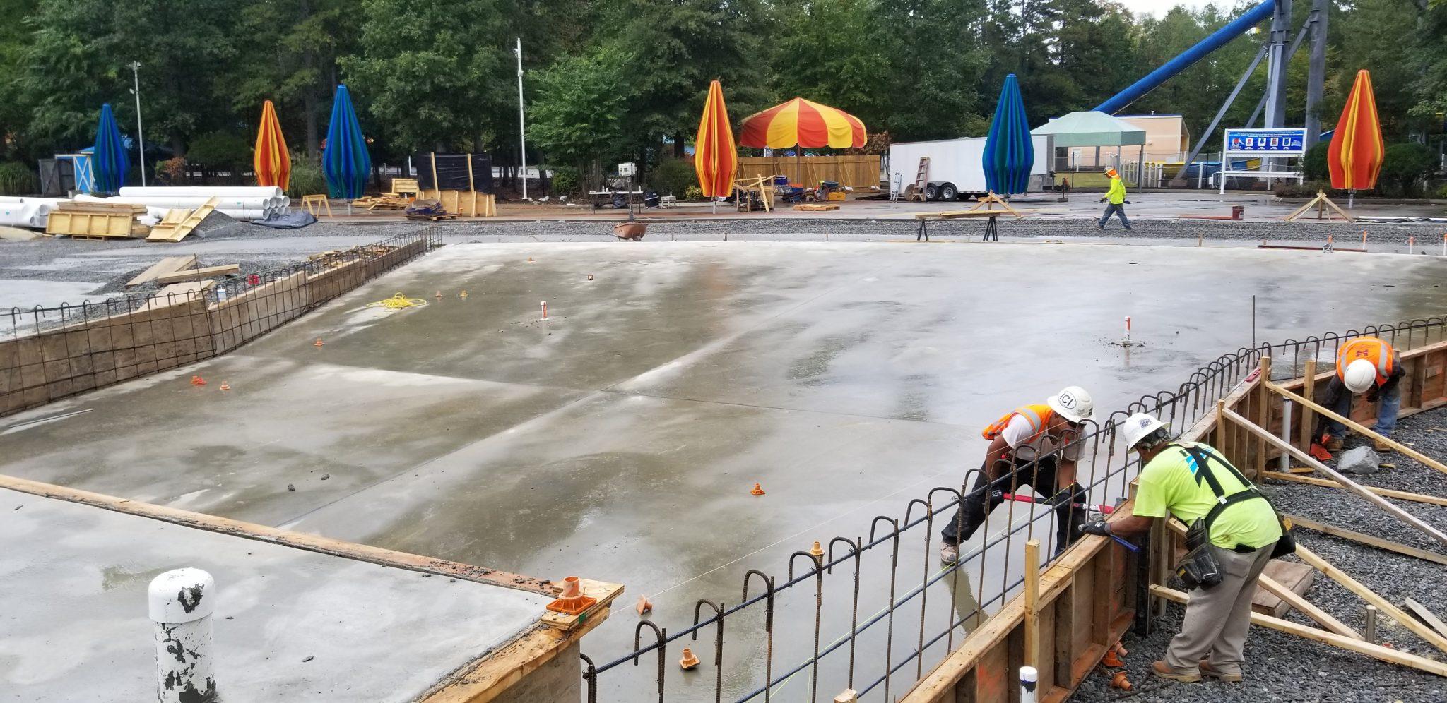 wave pool renovation at kings dominion