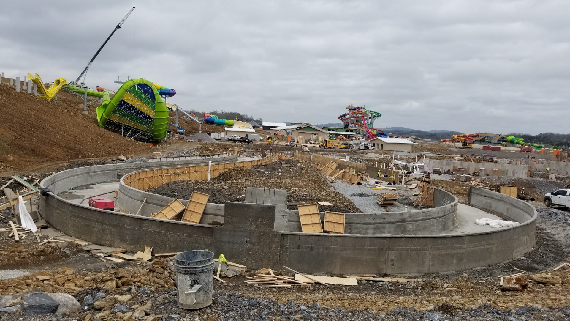 Lazy River construction at soaky Mountain Waterpark