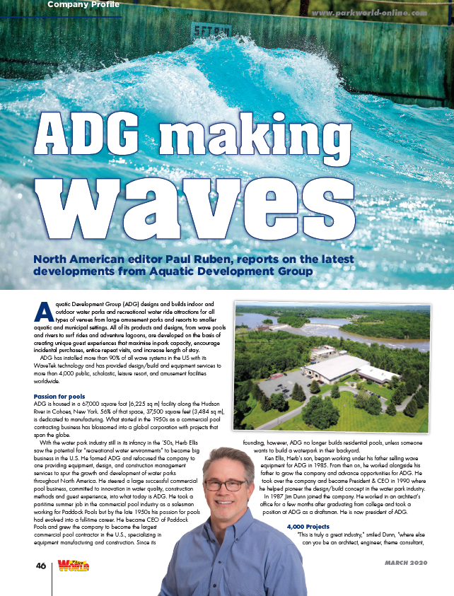 adg company profile in industry magazine park world