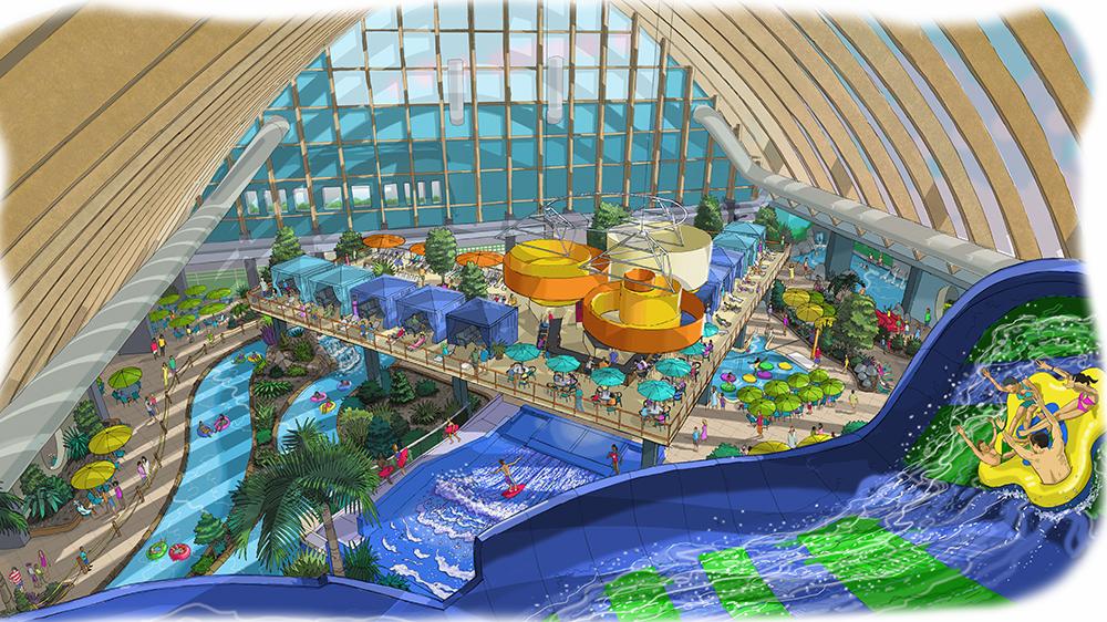 ADG Kartrite Rendering drawing indoor water park