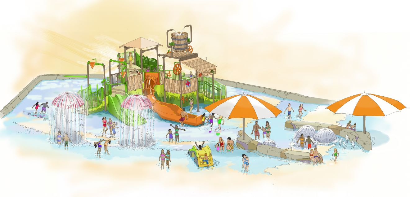 expansion area at a mountain water park