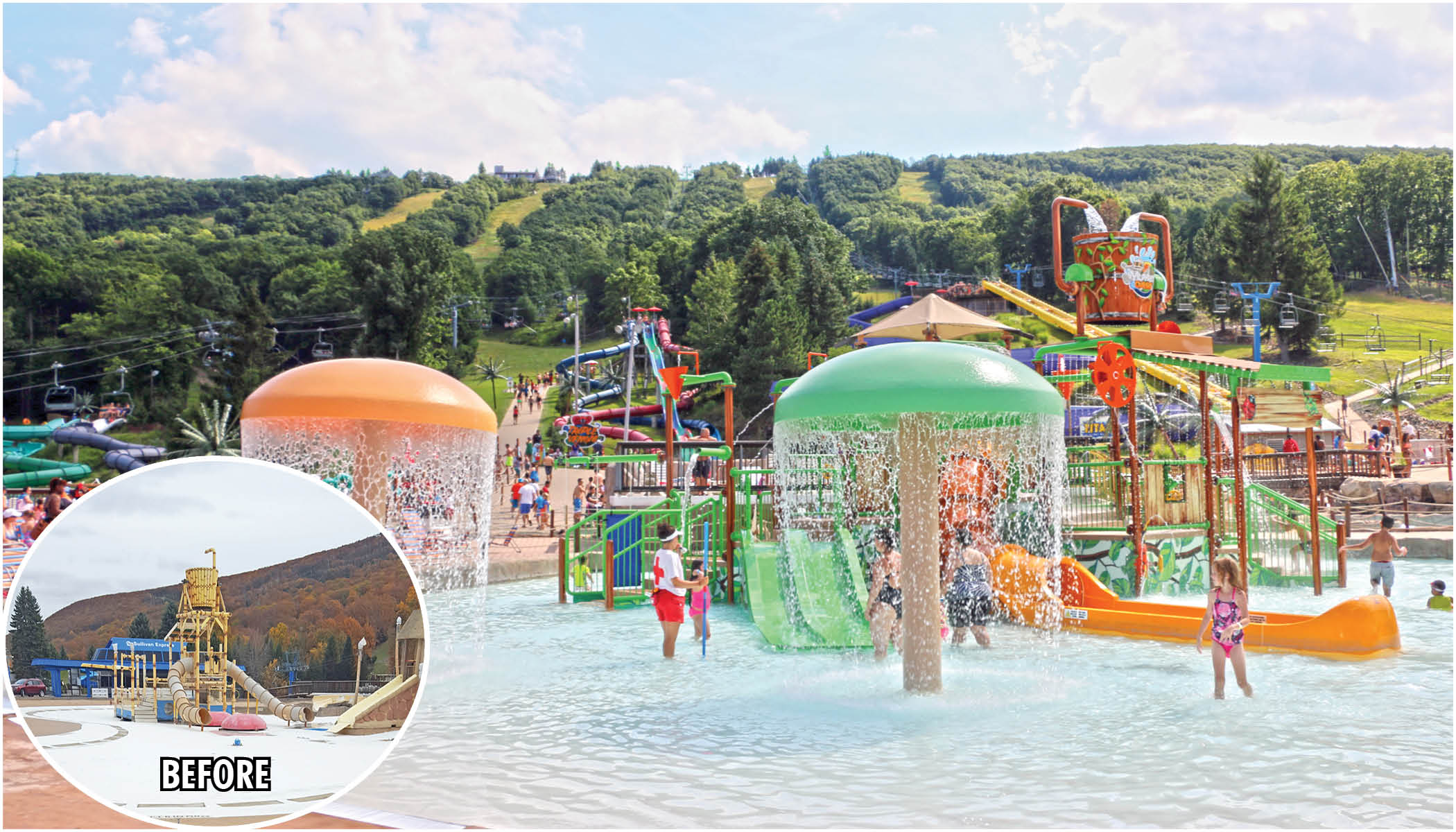camelbeach renovation water park project