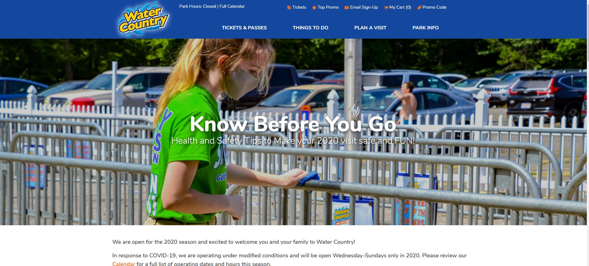 online reservations for water parks