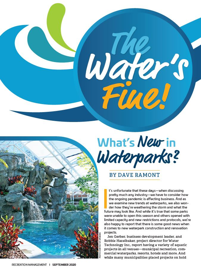 Recreation Management article the water is fine