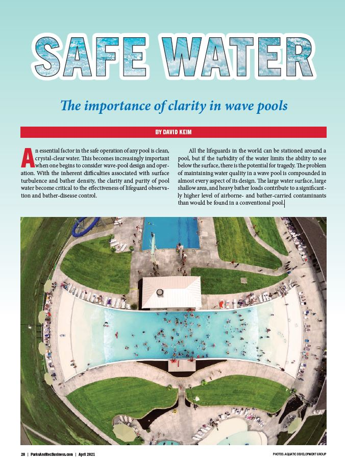 safe water wave pool featured in parks and rec business